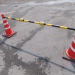 単管バリケード、コーンバーなどの保安施設と同等幅での設置ができます